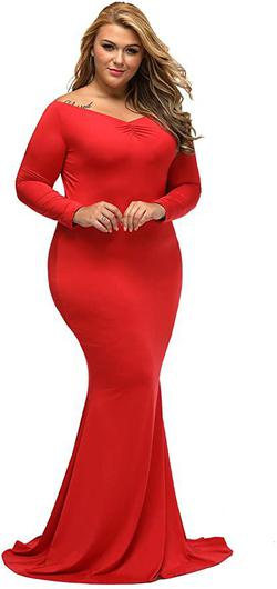 Style B01N5G3IEH Lalagen Red Size 14 Tall Height Mermaid Dress on Queenly