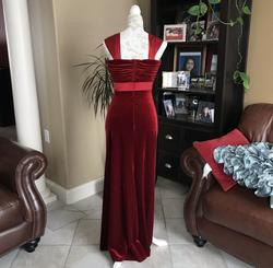 Tadashi Red Size 4 Velvet Straight Dress on Queenly