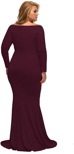 Style B01N5G3IEH Lalagen Red Size 24 Jersey Burgundy Mermaid Dress on Queenly