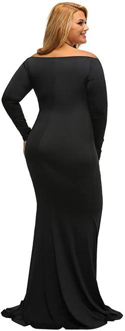 Style B01N5G3IEH Lalagen Black Size 14 Wedding Guest Long Sleeve Plus Size Mermaid Dress on Queenly
