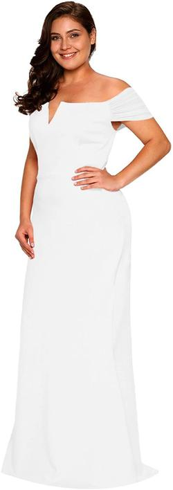 Style B073L9K7WH Lalagen White Size 16 Plus Size Mermaid Dress on Queenly
