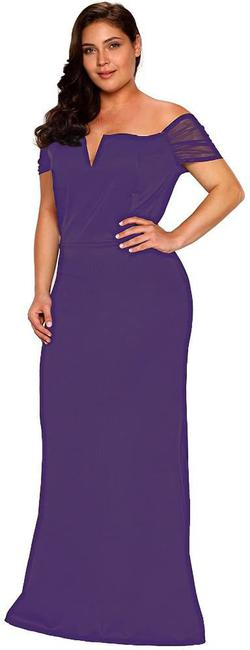 Style B073L9K7WH Lalagen Purple Size 24 Wedding Guest Plus Size Mermaid Dress on Queenly