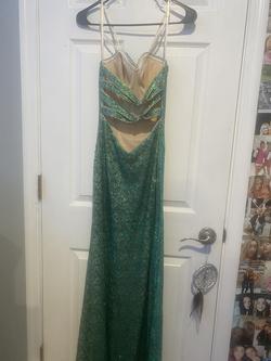 La Femme Green Size 2 Jewelled Mermaid Dress on Queenly
