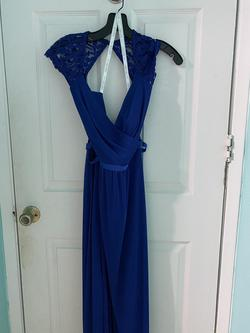 David's Bridal Blue Size 20 A-line Dress on Queenly