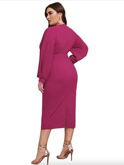 Style B07XK6R7M Verdusa Pink Size 22 Belt Polyester Cocktail Dress on Queenly