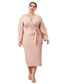 Style B07XK6R7M Verdusa Pink Size 20 Bridesmaid Tall Height Wedding Guest Cocktail Dress on Queenly