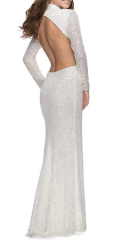 White Size 0 Side slit Dress on Queenly