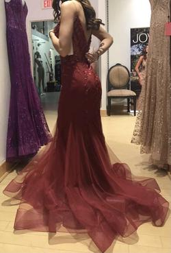 Red Size 0 Mermaid Dress on Queenly