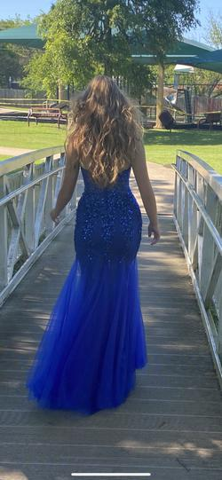Jovani Blue Size 00 Prom Mermaid Dress on Queenly