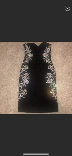 Jovani Black Size 4 Homecoming Cocktail Dress on Queenly