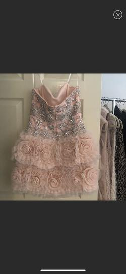 Jovani Pink Size 4 Sweetheart Cocktail Dress on Queenly