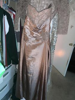 Gold Size 8 Ball gown on Queenly