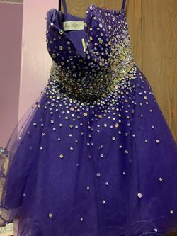 Mori Lee Purple Size 6 A-line Dress on Queenly