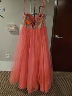 Style 91043 Mori Lee Orange Size 16 Plus Size Ball gown on Queenly