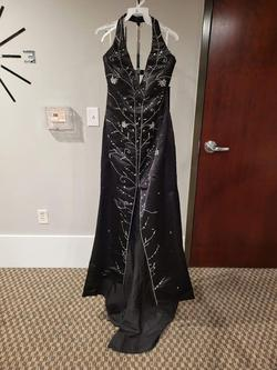 Style L8629 Precious Formals Black Size 16 Prom Mermaid Dress on Queenly