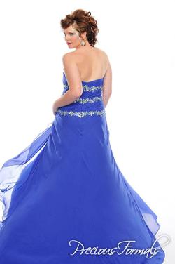Style W20977 Precious Formals Blue Size 16 Prom Tall Height Straight Dress on Queenly