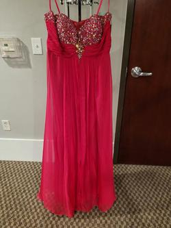 Style 5244 Lets Fashion Pink Size 16 Plus Size Straight Dress on Queenly