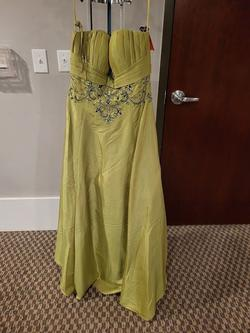 Style 11048 Jolene Light Green Size 16 Plus Size A-line Dress on Queenly