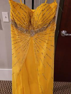 Style 9589 Joli Prom Yellow Size 16 Prom Plus Size Straight Dress on Queenly