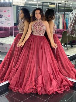 Style 44656 Sherri Hill Red Size 8 Ball gown on Queenly