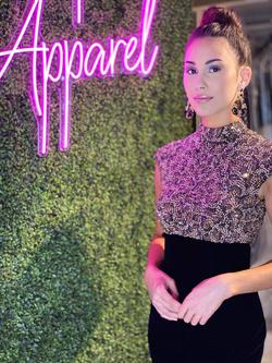 Style 44539 Sherri Hill Black Size 6 Velvet Mermaid Dress on Queenly