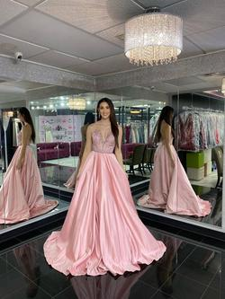 Style 44298 Sherri Hill Light Pink Size 6 Custom Sequin Ball gown on Queenly