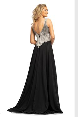 Style 2196 Johnathan Kayne Black Size 16 Pageant Side slit Dress on Queenly