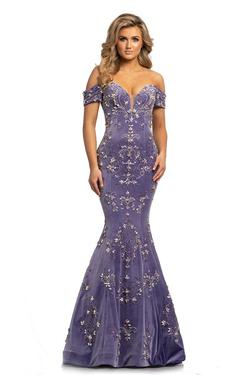 Style 2176 Johnathan Kayne Purple Size 8 Pageant Lavender Mermaid Dress on Queenly