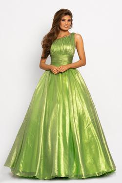 Style 2179 Johnathan Kayne Green Size 12 Pageant Ball gown on Queenly