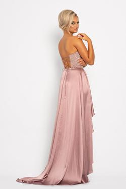 Style 2235 Johnathan Kayne Pink Size 8 Silk Pageant Side slit Dress on Queenly