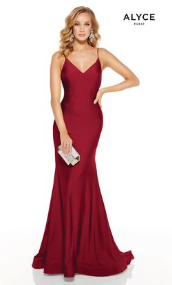 Style 60773 Alyce Paris Red Size 12 Sorority Formal Tall Height Wedding Guest Mermaid Dress on Queenly