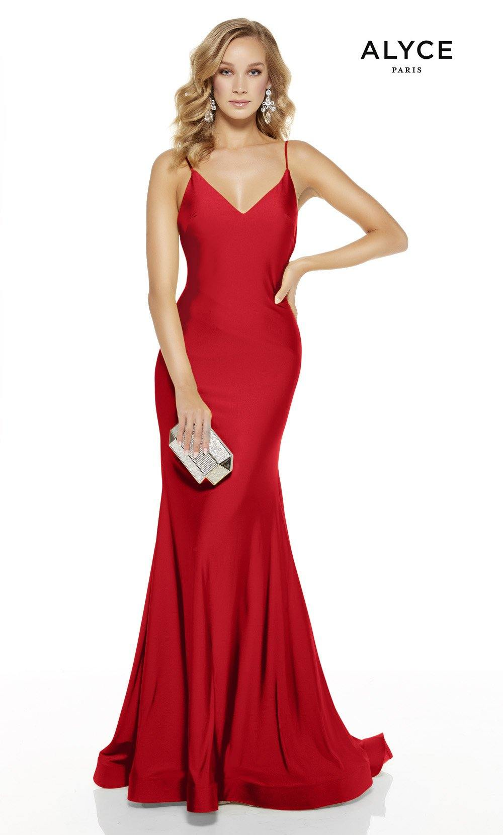 Style 60773 Alyce Paris Red Size 12 Sorority Formal Prom Mermaid Dress on Queenly