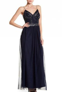 Style 264737 Marina  Blue Size 6 Straight Dress on Queenly