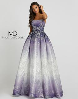 Style 12310H Mac Duggal Purple Size 12 Ombre Ball gown on Queenly
