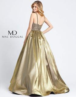 Style 66743H Mac Duggal Gold Size 20 Pageant Tall Height Sequin Ball gown on Queenly