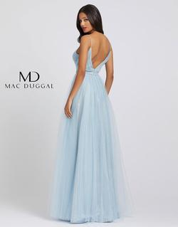 Style 49037A Mac Duggal Blue Size 10 Tall Height A-line Dress on Queenly