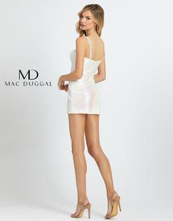 Style 66858A Mac Duggal White Size 4 Homecoming Fun Fashion Pageant Jumpsuit Dress on Queenly