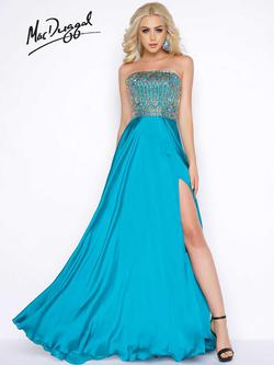 Style 65962A Mac Duggal Blue Size 18 Plus Size Tall Height Side slit Dress on Queenly