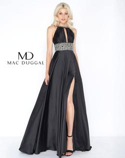 Style 77435A Mac Duggal Black Size 16 Pageant Prom Plus Size Side slit Dress on Queenly
