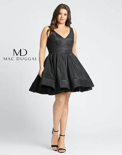 Style 48891F Mac Duggal Black Size 24 Pageant Cocktail Dress on Queenly