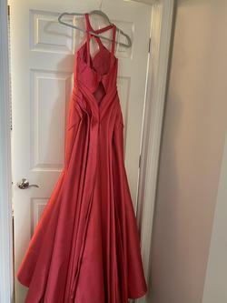 Rachel Allan Red Size 0 Train Mermaid Dress on Queenly