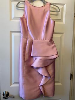 Bridal Elegance Pink Size 4 Silk Cocktail Dress on Queenly