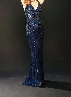 Sherri Hill Blue Size 0 Straight Dress on Queenly