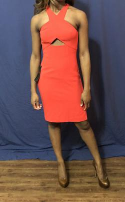 BCBGMaxazria Red Size 0 Graduation Sorority Formal Cocktail Dress on Queenly