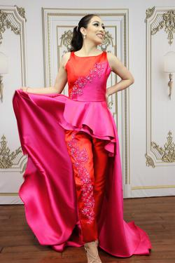 LarissaCoutureLV Red Size 4 Straight Dress on Queenly