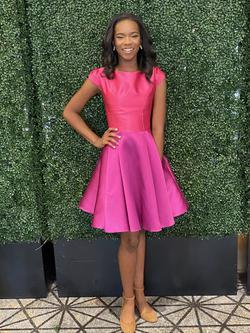 LarissaCoutureLV Purple Size 2 Pockets Interview A-line Dress on Queenly
