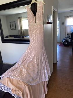 Jovani Pink Size 00 Lace Tall Height Train Dress on Queenly