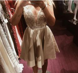 Nude Size 0 A-line Dress on Queenly