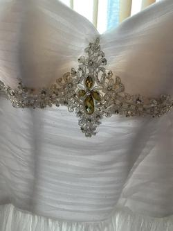 White Size 4 Ball gown on Queenly