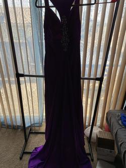 Flirt by Maggie Sottero Purple Size 6 Train Tall Height Straight Dress on Queenly